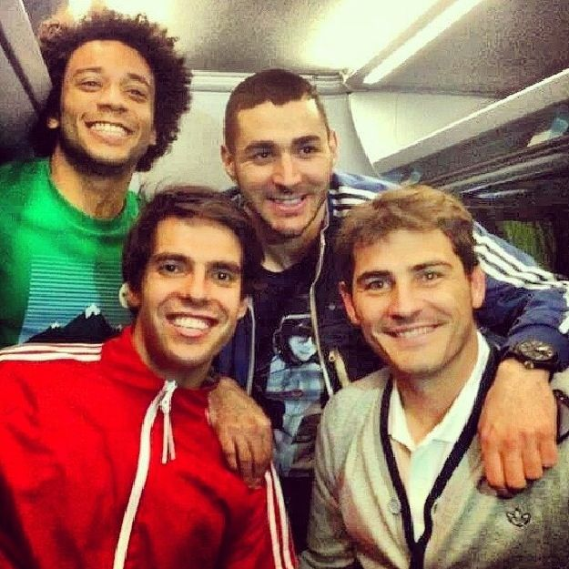 Benzema, Kaka, Casillas and Marcelo  Real Madrid