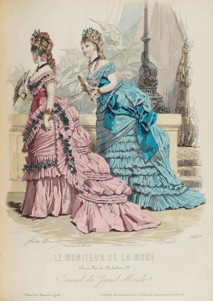 le moniteur de la mode 1875 vintage fashion vintage style vintage illustration pinterest. Black Bedroom Furniture Sets. Home Design Ideas