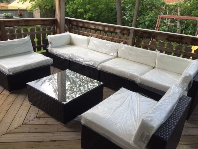 Patio set patio garden furniture mississauga peel for Outdoor furniture kijiji