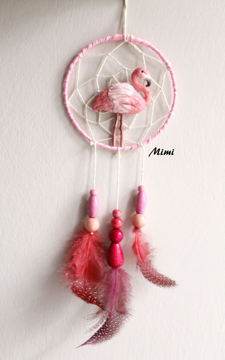 Acchiappasogni/scacciapensierinin pasta polimerica / fimo /Flamingo Rosa di LeIdeeDiMimi su Etsy https://www.etsy.com/it/listing/471638404/acchiappasogniscacciapensierinin-pasta