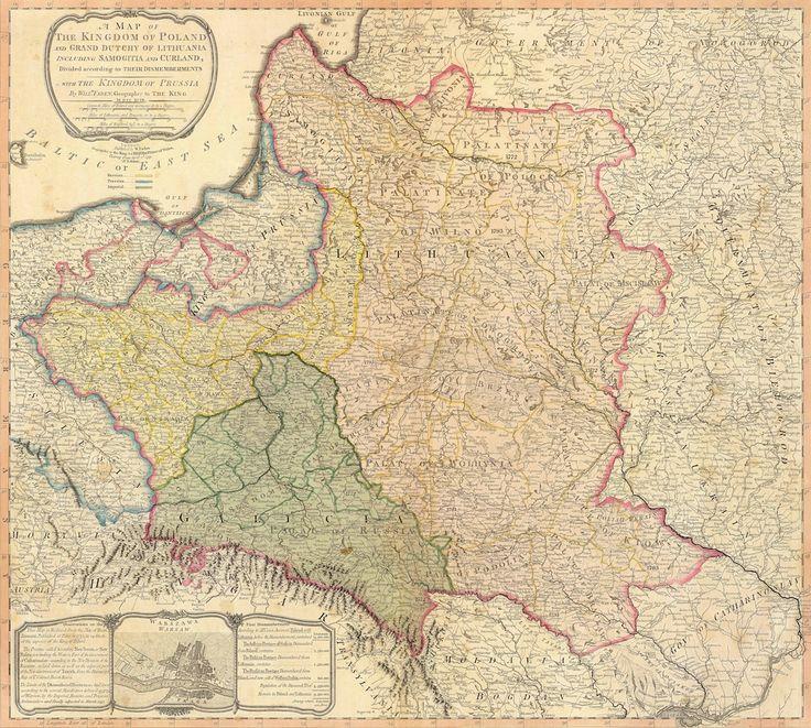 Angielska Mapa Rozbiorów Polski z 1799 Roku - 10 Fascynujących Historycznych Map Polski
