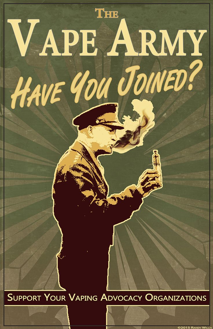 Vintage recruitment poster for vaping advocacy. I'm considering selling the full size image and/or PSD file for printing as a poster for vape shops, lounges, or anyone. Message me if interested.