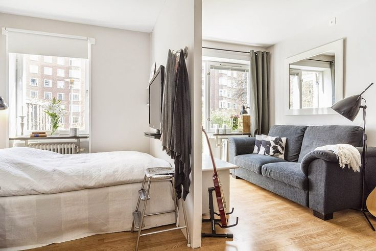 Как обустроить спальню в однокомнатной квартире: ниши, шторы, перегородки.