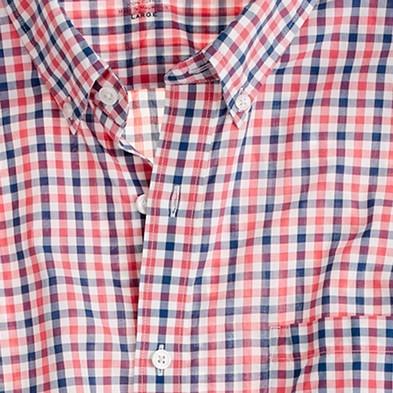 Camicia a quadri, con colletto ridotto