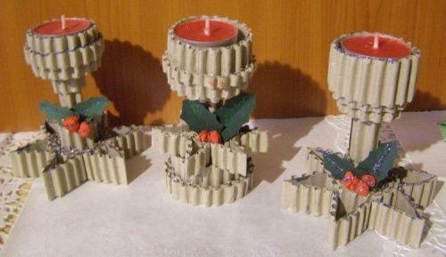 świeczniki małe z gwiazdką