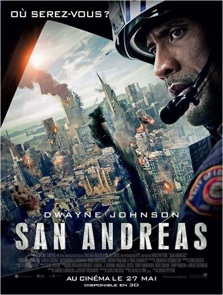 SAN ANDREAS. Lorsque la tristement célèbre Faille de San Andreas finit par s'ouvrir, et par provoquer un séisme de magnitude 9 en Californie, un pilote d'hélicoptère de secours en montagne et la femme dont il s'est séparé quittent Los Angeles pour San Francisco dans l'espoir de sauver leur fille unique.