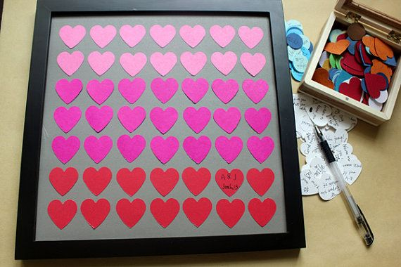 Unique Wedding Guest Book Alternative Personalized by MyLoveCamp, $50.00