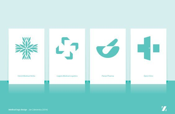 Collection of medical related logos I have created this year. Medical logo design by Jan Zabransky (2014)
