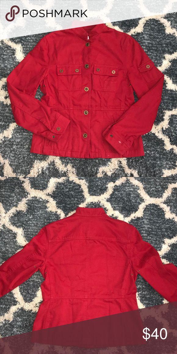Lauren Naval Supply Company Established 1967 Lauren Naval Supply Company- Ralph Lauren Clothing Goods US Trademark  NWOT 100% Cotton Red and bronze buttons Lauren Ralph Lauren Jackets & Coats Jean Jackets