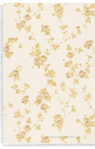 Petites fleurs or - Papier peint Romantica 3 d'AS Création
