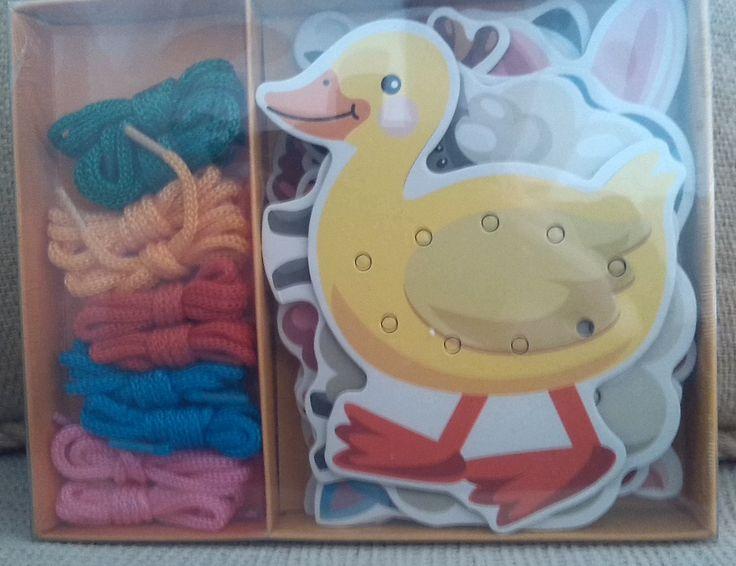 ANIMALES DE LA GRANJA PARA ENSARTAR (12 €) #juegosdeensartar #ensartarinfantil http://www.babycaprichos.com/animales-de-la-granja-para-ensartar.html