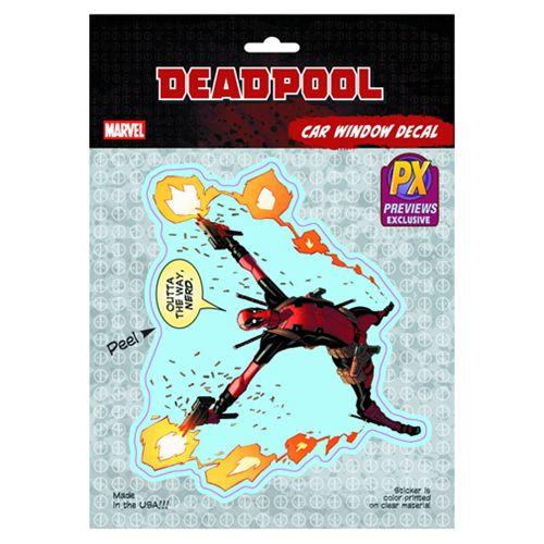 Deadpool Outta My Way Vinyl Decal - Previews Exclusive - Elephant Gun - Deadpool - Car Accessories at Entertainment Earth