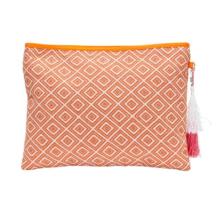 The Design Gift Shop - ANNABEL TRENDS | Aztec Diamond Clutch | Coral, $44.90 (http://www.thedesigngiftshop.com/annabel-trends-aztec-diamond-clutch-coral/)