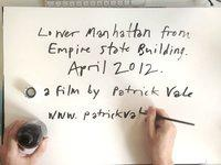 Timelapse video of artist Patrick Vale drawing the view of the Manhattan skyline