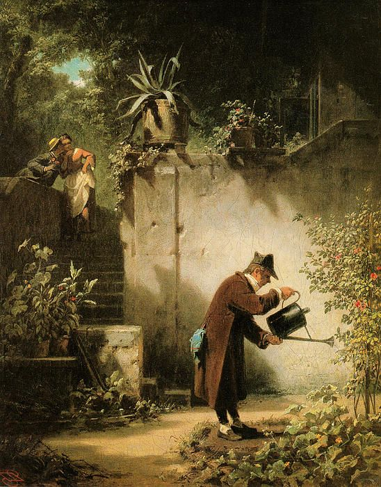 The Flower Friend..Carl Spitzweg  1855.: