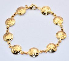 Our Lady of Lourdes Gold Rosary Bracelet.