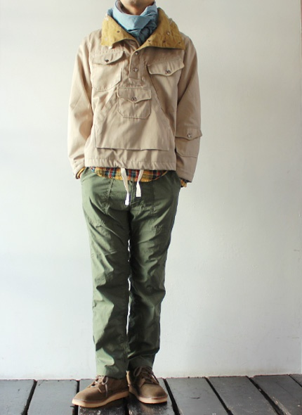 [Engineered Garments] Fatigue Pant - Reversed High Count Sateen  - takanna.com #pants #Engineered Garments