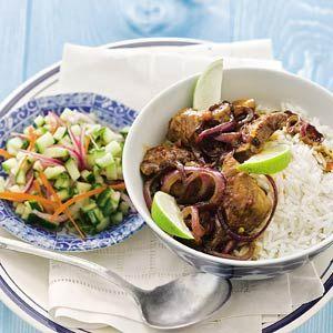 Recept - Hete kip met komkommersalade - Allerhande