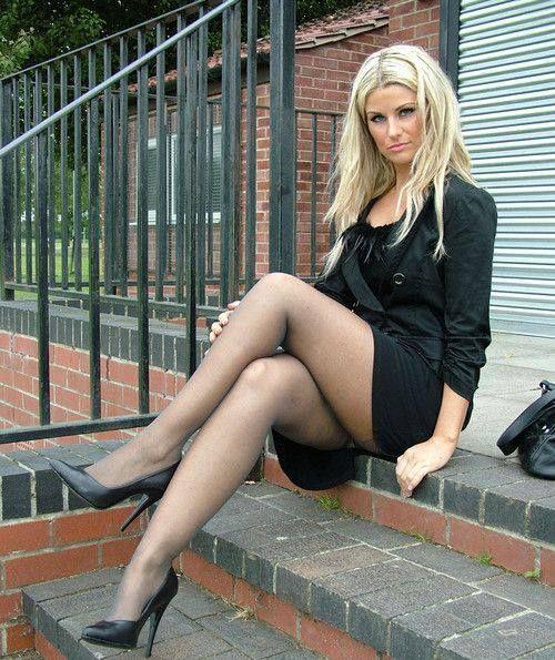 Ada stockings high heel tease 4