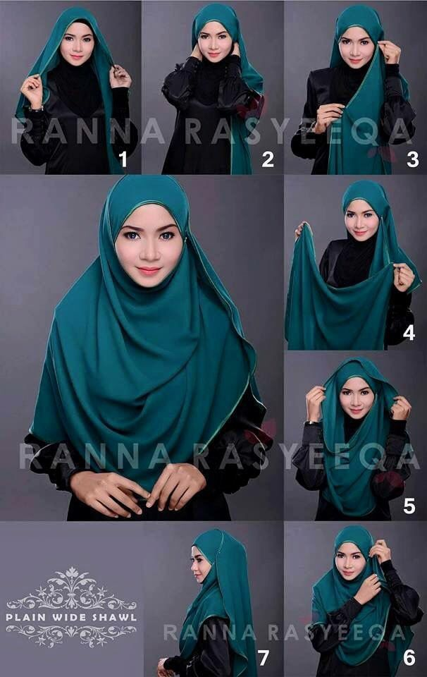 Another way to wear hijab. Not my photo.