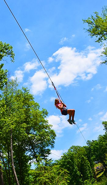 Race a friend down Camelback Mountain on 1,foot dual zip lines or the 4,foot twin zip-flyer! Whether choosing the zip line or the zip-flyer, you'll be safely harnessed as you zip through the trees at up to eight stories above the ground!Location: Resort Dr, Tannersville, , PA.