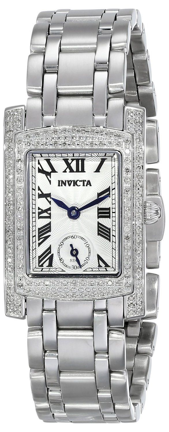 Invicta Women's 15626 Angel Stainless Steel Watch with Diamonds. Bringing you the best luxury watches online at the most affordable prices for premium brand name watches: http://www.bestwatches1st.com/#!invicta-angel-watch-collection/kb04e