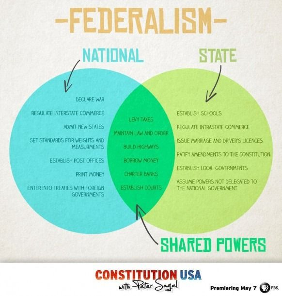 Federalism Venn Diagram Teaching Government Government Lessons Teaching History