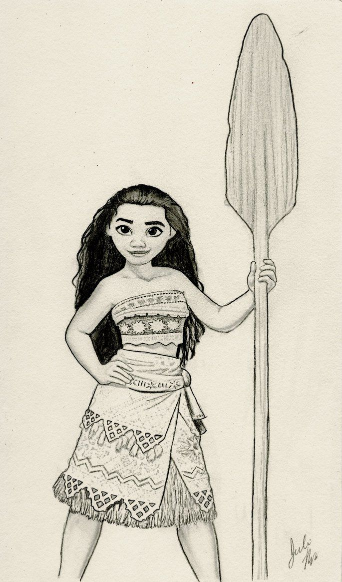 Moana (Disney Graphite Drawing) by julesrizz on DeviantArt