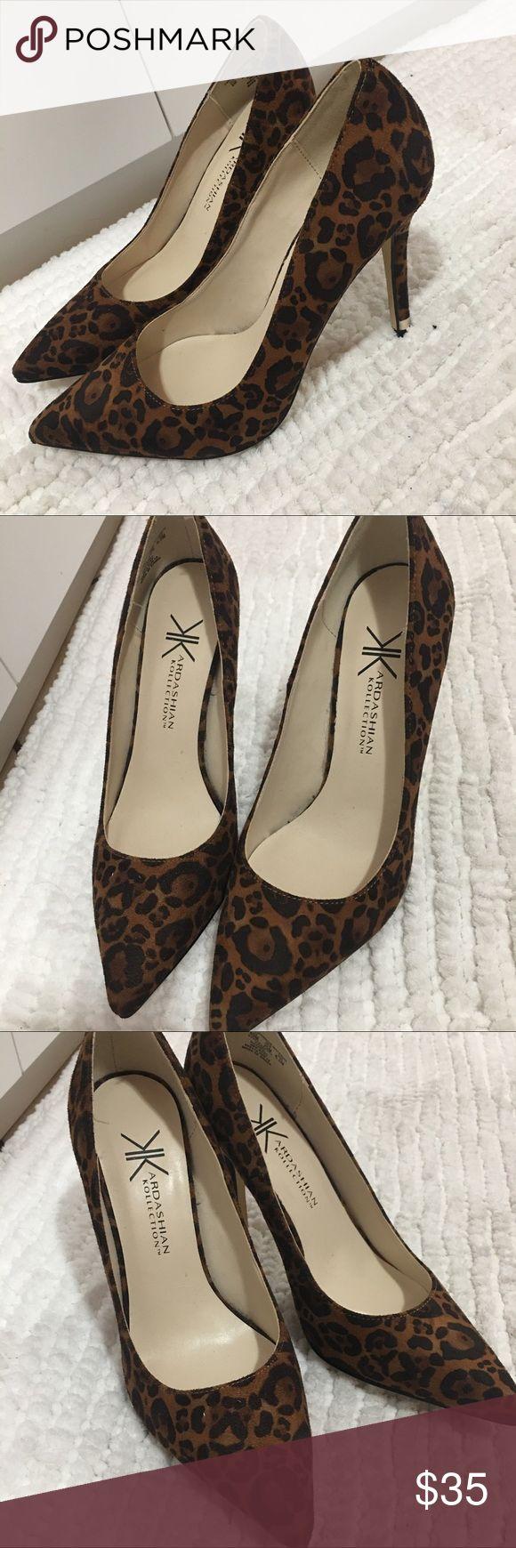 Cheetah Heels (kardashian Kollection) New cheetah Heels never worn size 8 Kardashian Kollection Shoes Heels