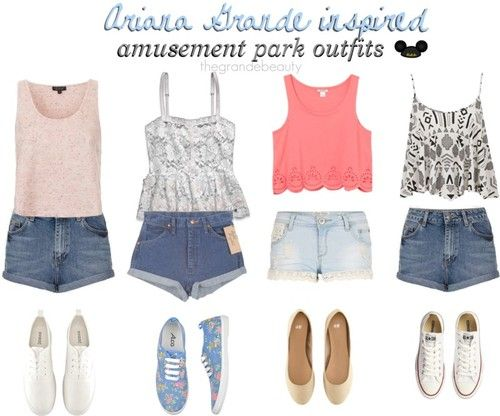 Ariana Grande Inspired Outfits | Ariana Grande inspired amusement park outfits. *Requested*TIP: Ariana ...
