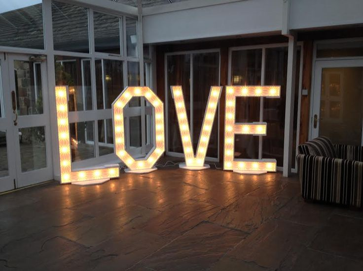 5ft tall LOVE letters available to hire