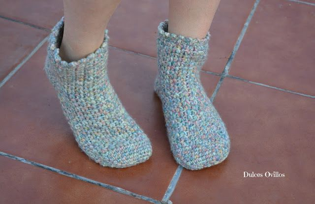 Dulces Ovillos: Calcetines a crochet con Lanas Rubí - Crochet sock...