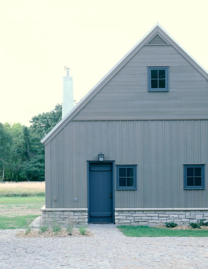 Albertsson-Hansen-Storage-Barns-rural-Minnesota: Modern Farmhouse, Utility Barn, Storage Barns, Blue Doors, Color Palette, Photo, House Exterior