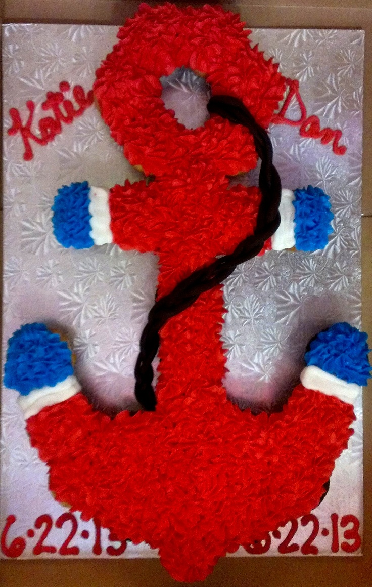 Anchor Cake, Anchor Cupcake Cake