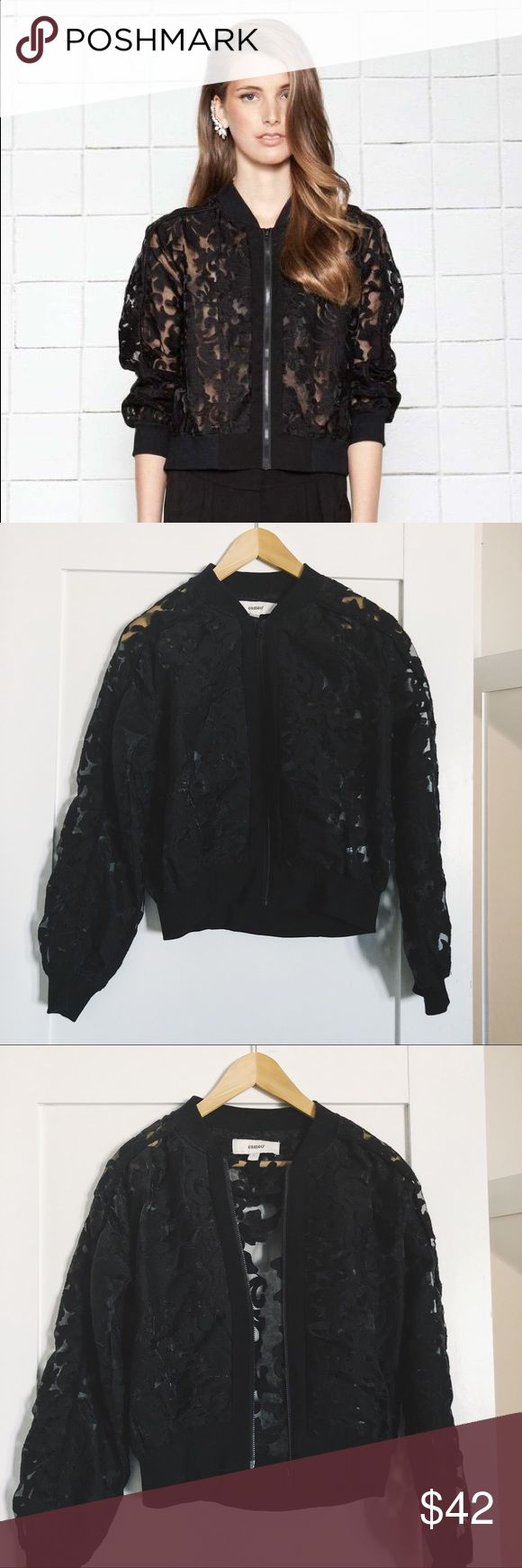 CAMEO the Label Locked Up Bomber Sheer embroidered jacquard organza bomber. Cameo the Label Other