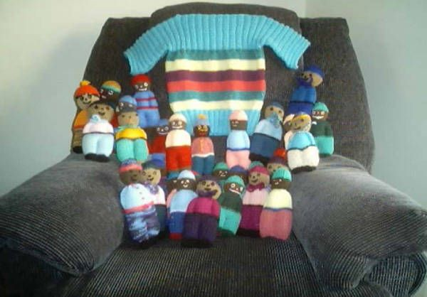 Knitting for African AIDS babies