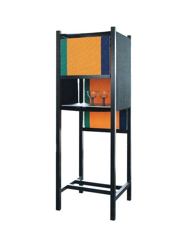 Sursprise storage shelf. Woven by Hanne Vedel and designed in cooperation with Lise og Hans Isbrand. Cabinetmaker autumn exhibition 2013. http://www.kjeldtoft.com/