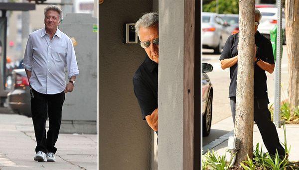 Джим Керри решил немного позабавить папарацци на пляже Джим Керри, Дастин Хоффман, папарацци, Фото