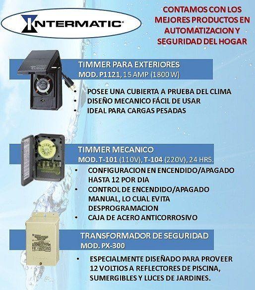 Contamos con Intermatic Inc., lo mejor en productos para el ahorro energetico y automatización de su hogar, enKrugar S.A.  Para mayor información sobre este producto, llámanos al04 6051480ó escríbenos akrugarsa@hotmail.com  Krugar S.A.todo para su piscina…