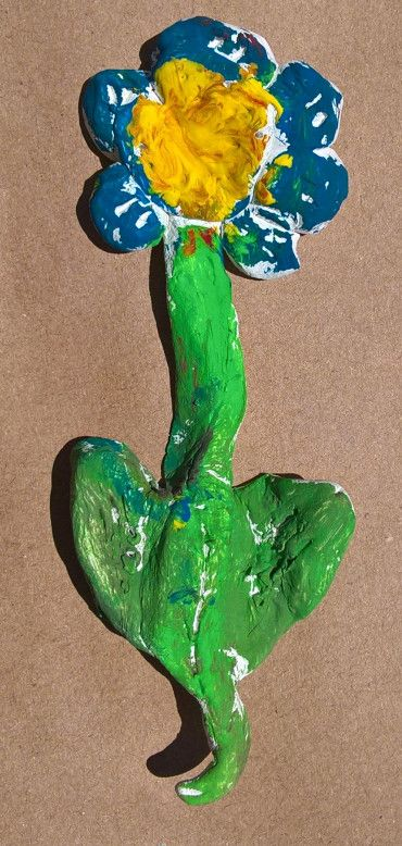 clay, paint, flower, kids crafts
