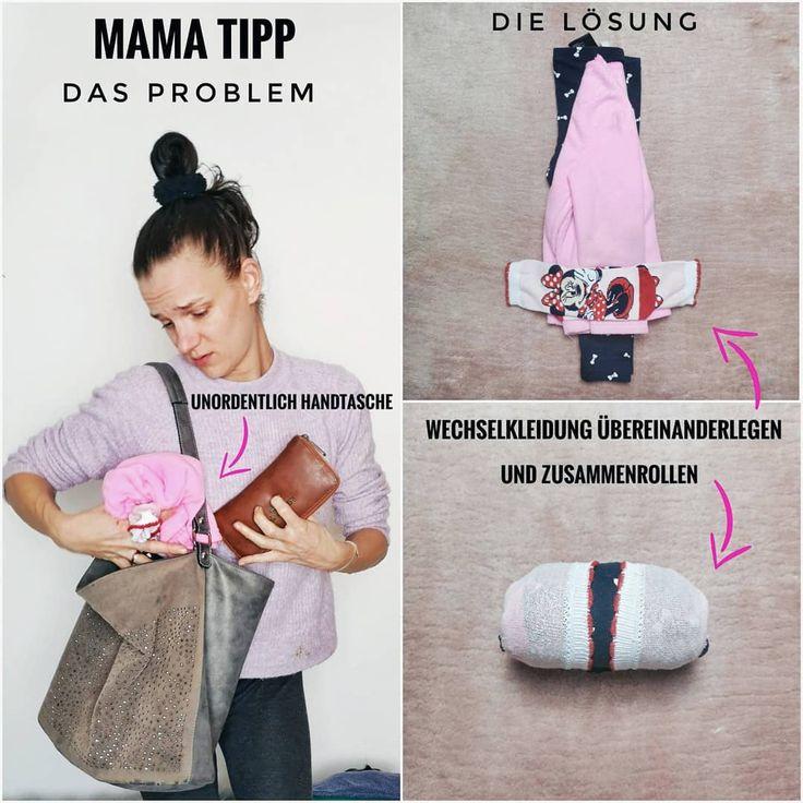 Mama Tipp Wechselkleidung meiner Kinder packe ich seit einiger Zeit immer mit dieser Methode ein. #mamatipp #mamahack #hack #tippsundtricks