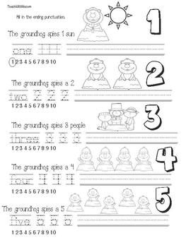 Groundhog Day activities: FREE groundhog counting booklet.  Students add end punctuation!