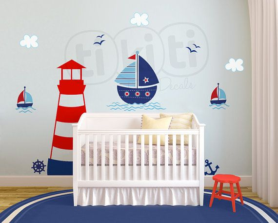 Sailor Wall Decal Marine LightHouse Sea by TikitiWallDecals, $87.00