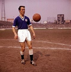 Jimmy Greaves of Chelsea in action during a training session.