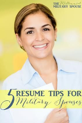 Resume tips for milspouses, pinning for later!