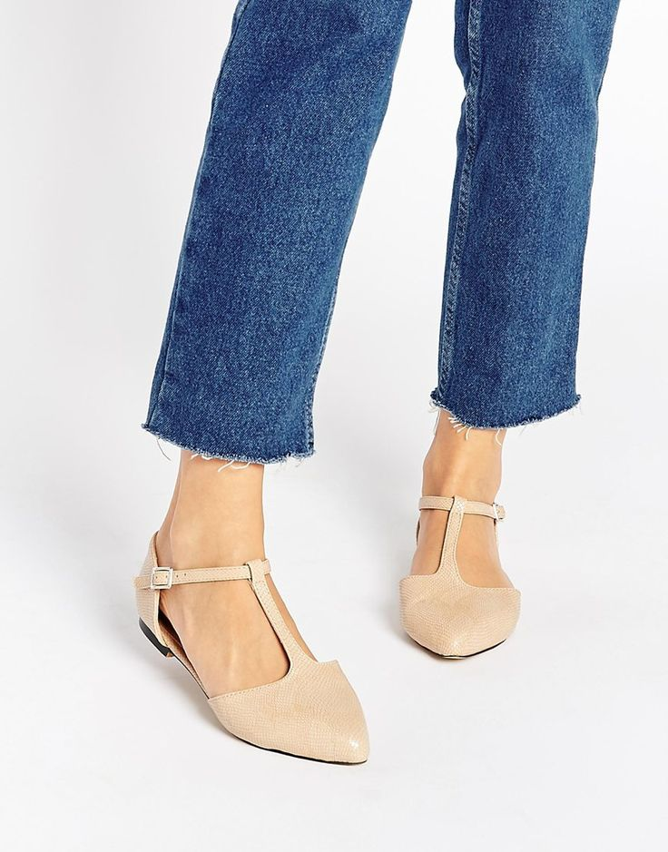 Image 1 of Warehouse T Bar Flat Shoes