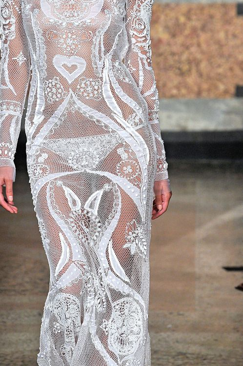 Grazy Sexy Love Summer Whites ~ Bohemian lace dress by Emilio Pucci, spring 2012