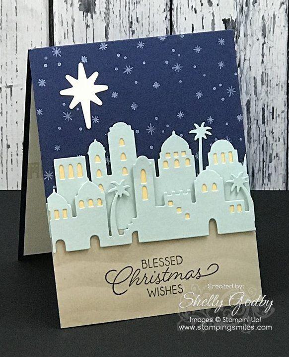 Easy & Elegant Stampin' Up! Night in Bethlehem Card