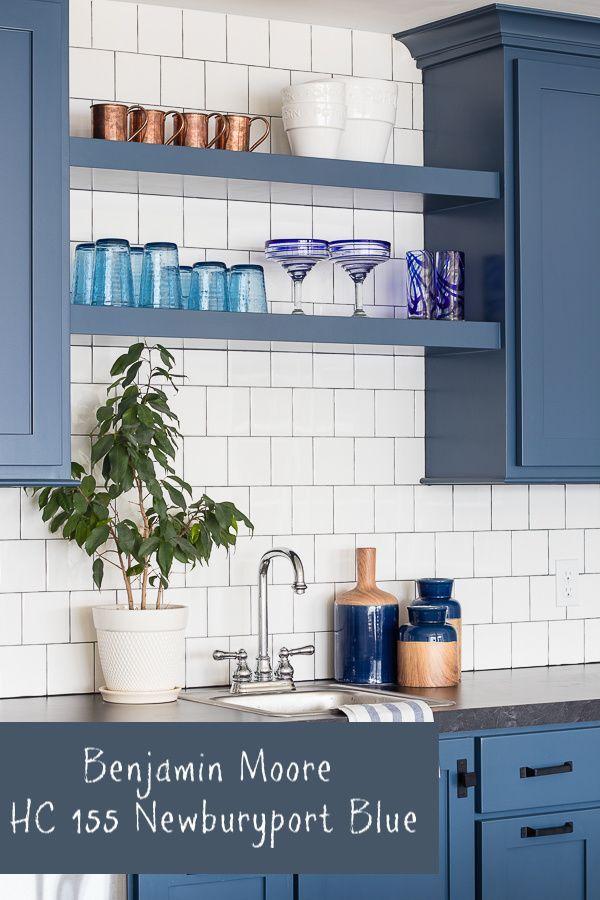 Benjamin Moore HC 155 Newburyport Blue Navy Cabinet Color | Kitchen Remodel Small, Blue Kitchen Cabinets, Kitchen Remodel Design
