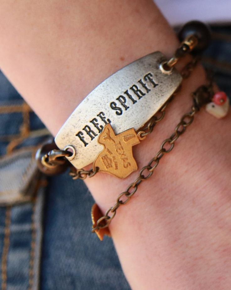 FRee SPirit tag beaded bracelet